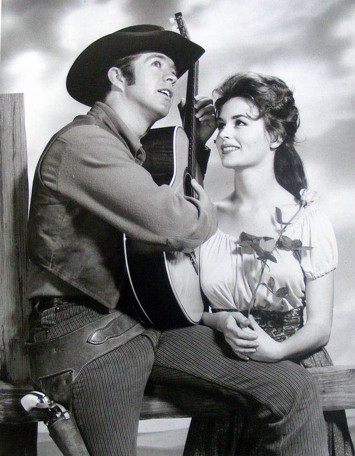 clu gulager 1960s, marianna hill, american actors, 1960s television series, 1960s western shows, the tall man, billy the kid, younger