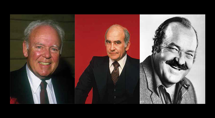 ed asner, carroll oconnor, william conrad, american actors, celebrity book, dashing daring and debonair, author, herbie j pilato, SAG president, heavy set actors, television series, movie stars