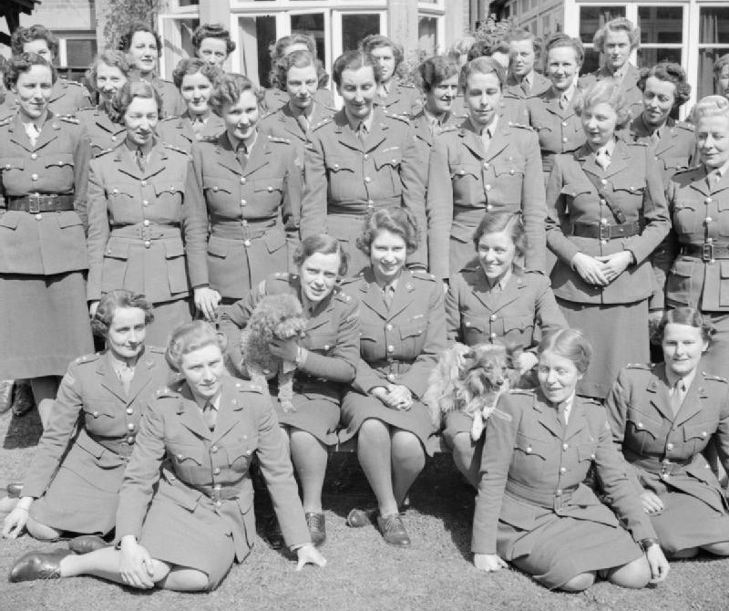 princess elizabeth 1945, queen elizabeth, auxiliary territorial service training, world war ii, wwii