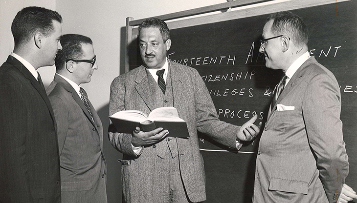 1946 november, thurgood marshall, lawyer, naacp, civil rights, lynch mob, race riots, supreme court justice, black american lawyer, african american lawyer, matthew j ryan, anthony j mazullo, dean harold reuschlein, villanova law library