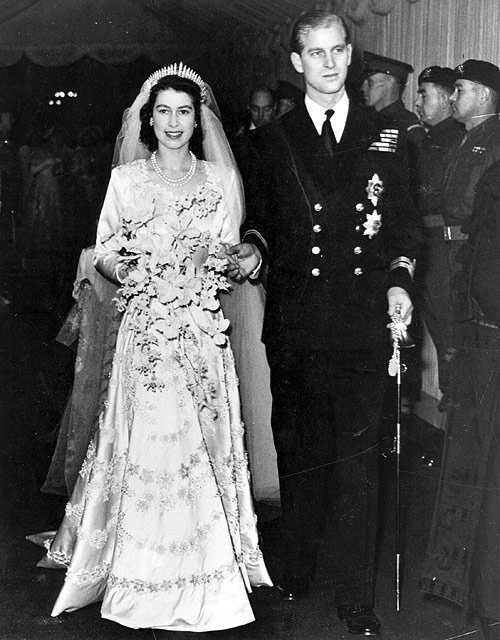 queen elizabeth ii, 1947, wedding, prince philip, duke of edinborough, princess elizabeth, younger