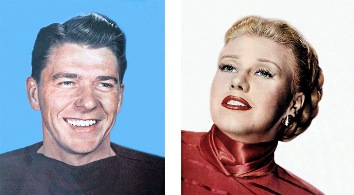 1951 movie costars, storm warning, american actors, ronald reagan, actress, film stars, ginger rogers, 1946, 1949