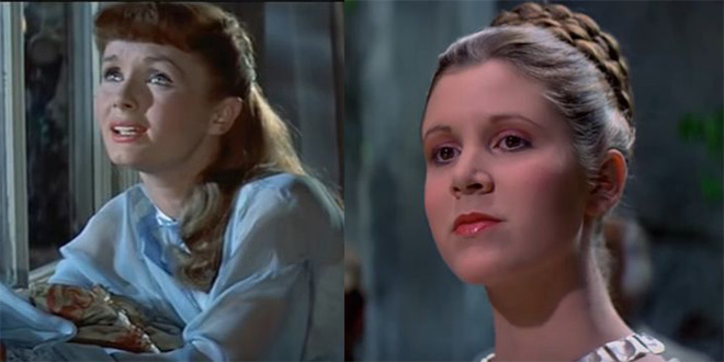 debbie reynolds 1957, american actress, movies, tammy and the bachelor, mother, daughter, carrie fisher 1977, star wars