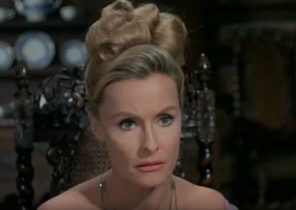 dina merrill 1965, american actress, american heiress, 1960s television series, daniel boone, younger