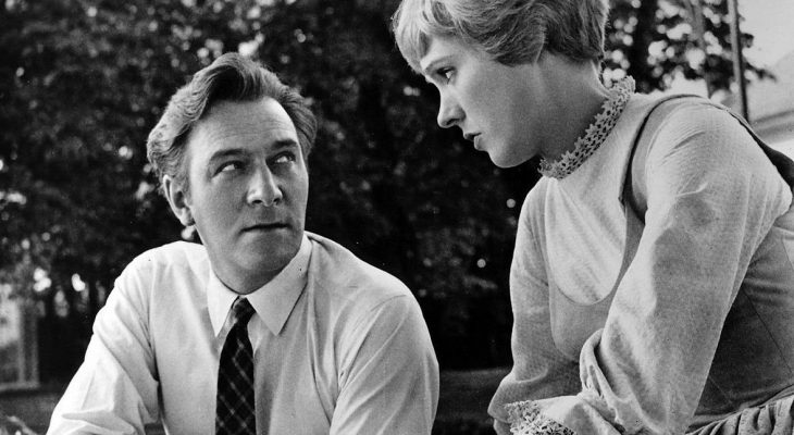 julie andrews, christopher plummer, 1964, the sound of music, 1960s movies, movie musicals, captain von trapp, maria von trapp