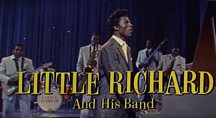 little richard 1956, american rock singer, rock and roll music, 1950s movie musicals, the girl cant help it