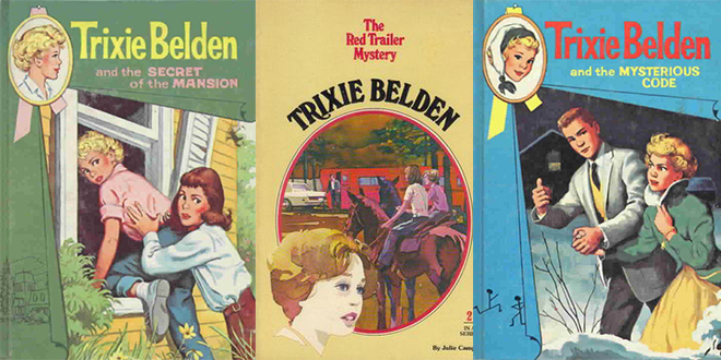 trixie belden, childrens book series, childrens mystery series, teen detective, pre-teen books, young teenager books, author julie campbelll, author kathryn kenny