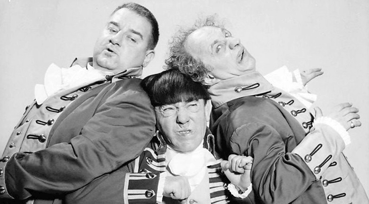 january 1952, curly howard died, the three stooges, movie brothers, moe howard, shemp howard, comedians, comedic actors, vaudeville comedy acts, comedy movies, larry fine