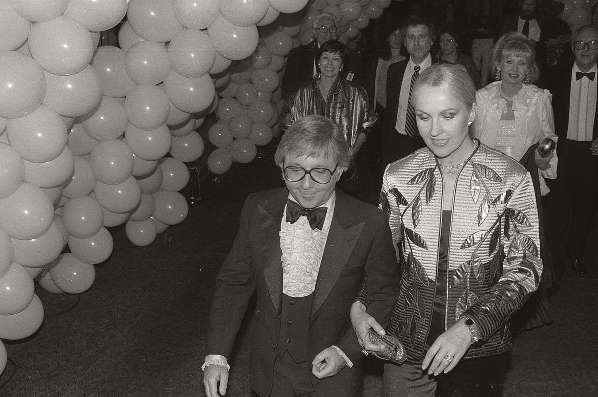 arte johnson, wife gisela johnson, 1980
