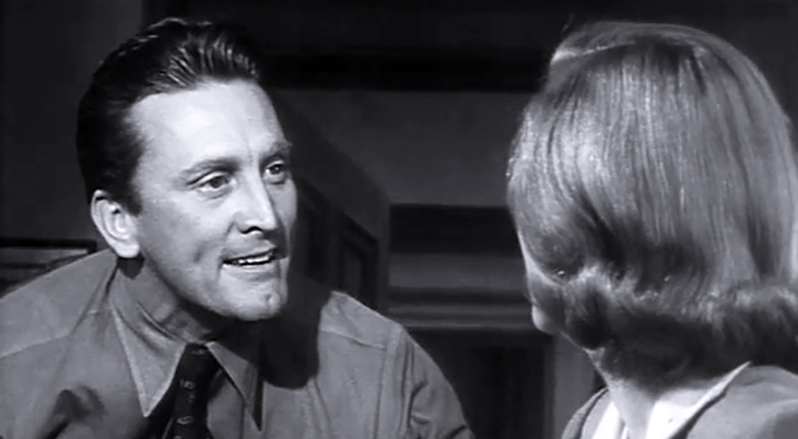 kirk douglas 1951, american actor, 1950s movie star, 1950s movies, detective story, classic movie stars