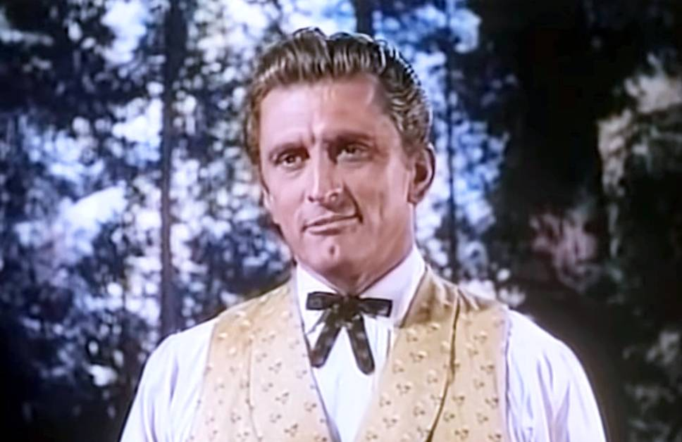 kirk douglas 1952, american actor, 1950s movies, the big trees, classic film stars