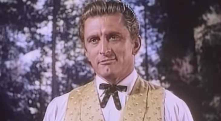 kirk douglas 1952, american actor, 1950s movies stars, 1950s movies, the big trees