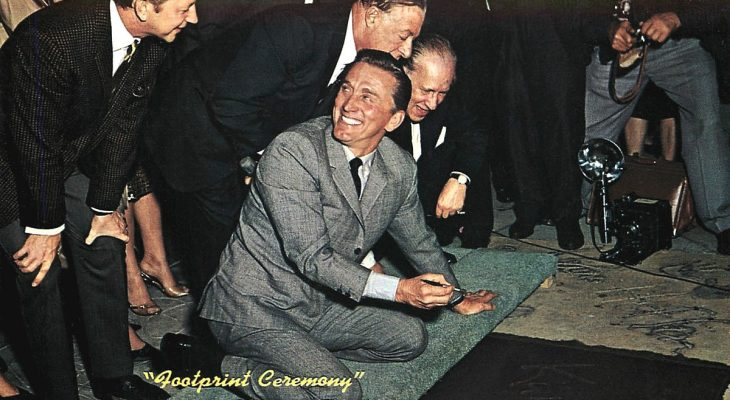 kirk douglas 1962, donald oconnor, george jessel, graumans chinese theatre ceremony