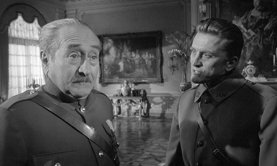 kirk douglas 1957, adolphe menjou, 1950s movies, paths of glory, world war ii movies
