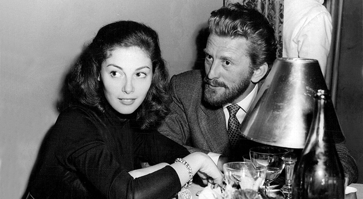 kirk douglas 1953, american actor, classic movie stars, pier angeli, filming lust for life, 1950s movies,