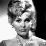 zsa zsa gabor 1959, nee sari gabor, hungarian american actress, born in budapest hungary, born february 6 1917, older sister eva gabor, jolie gabor, daughter constance francesca hilton, marriages, divorces, husbands, affairs, burhan belge, turkey, kemal ataturk, conrad hilton, sr, nicky hilton, conrad hilton jr, george sanders, porfirio rubirosa, ramfis trujillo, herbert hutner, joshua s cosden jr, jack ryan, michael o'hara, magda gabor, felipe de alba, frederic prinz von anhalt, hans georg robert lichtenberg, health problems, stroke, blocked artery, hip replacement, leg amputation, lung infection, feeding tube, nonagenarian, senior citizen, died december 18 2016, zsa zsa gabor dead