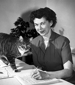 beverly cleary 1955, beverly cleary younger, american childrens author, young adult fiction writer, ramona and beezus, ramona the pest, born april 12 1916, april 12th birthday, centenarian, senior citizen, ramona quimby, henry huggins, senior years, old age, assisted living, retirement community