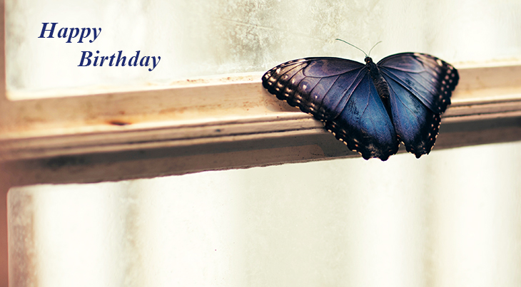 happy birthday wishes, birthday cards, birthday card pictures, famous birthdays, blue, butterfly