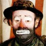 emmett kelly birthday, emmett kelly 1953, american clown, circus performer, aerial kellys trapeze artist, professional clown, ringling brothers and barnum and bailey circus clown, whiteface clown, hobo clown, weary willie, clown actor, 1950s movies, the fat man, the greatest show on earth, wind across the everglades, octogenarian birthdays, senior citizen birthdays, 60 plus birthdays, 55 plus birthdays, 50 plus birthdays, over age 50 birthdays, age 50 and above birthdays, celebrity birthdays, famous people birthdays, december 9th birthdays, born december 9 1898, died march 28 1979, celebrity deaths
