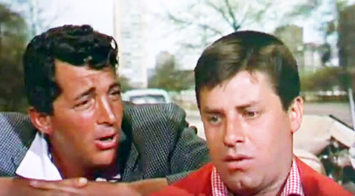 jerry lewis, dean martin, american actors, comedian, classic movies, 1950s films, hollywood or bust