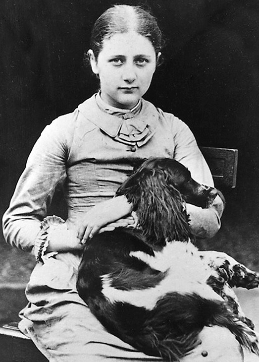beatrix potter 1878, beatrix potter age 12, beatrix potter childhood, beatrix potter family dog spot