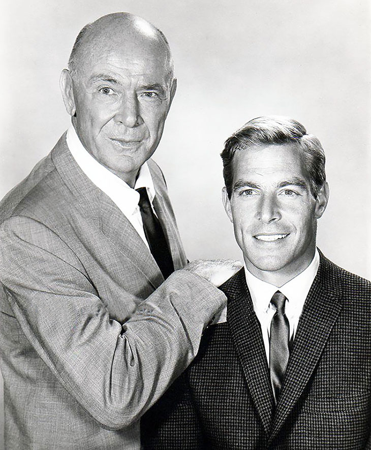 james franciscus 1963, dean jagger 1965, american actors, 1960s television series, mr novak stars