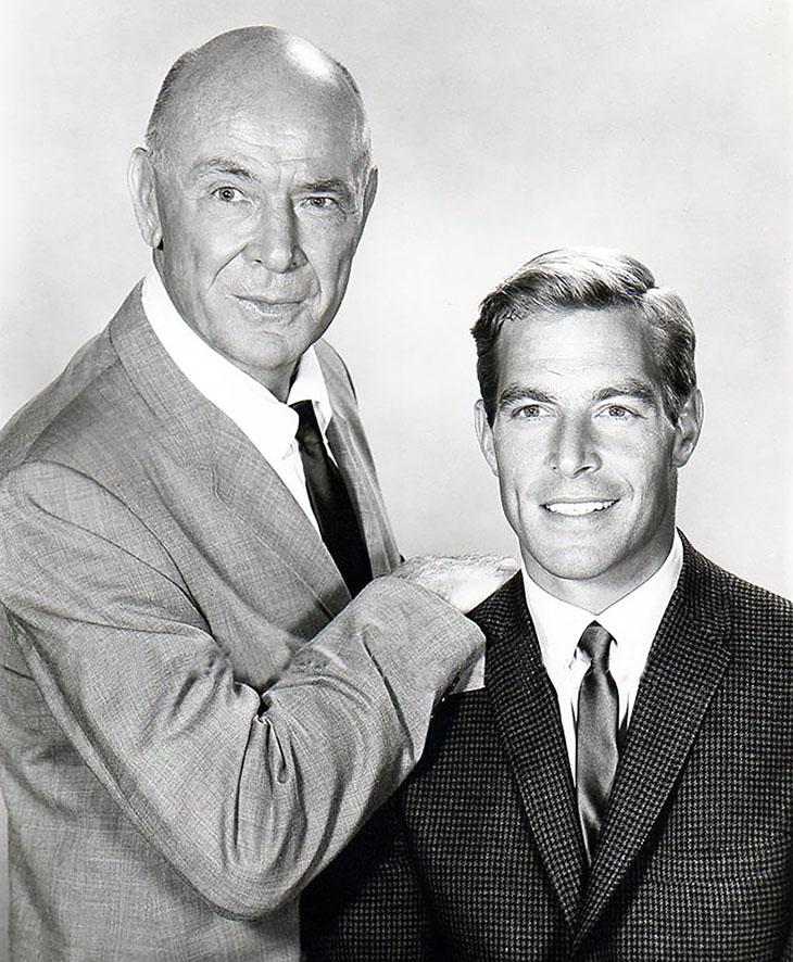 james franciscus 1963, dean jagger 1965, american actors, 1960s television series, mr novak stars