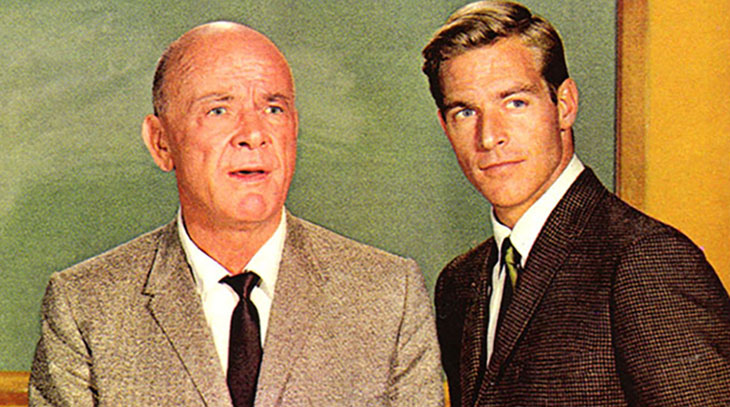 dean jagger 1960s, james franciscus 1960s, 1960s television series, mr novak series, chuck harter book, mr novak an acclaimed television series