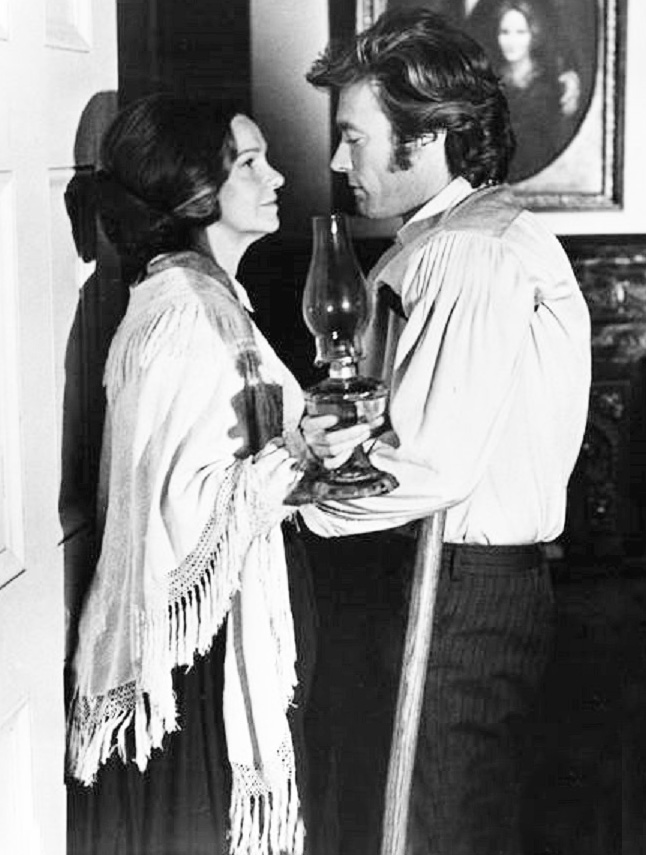 clint eastwood 1971, geraldine page, american actor, actress, 1970s western movies, the beguiled, confederate soldier, civil war movies,