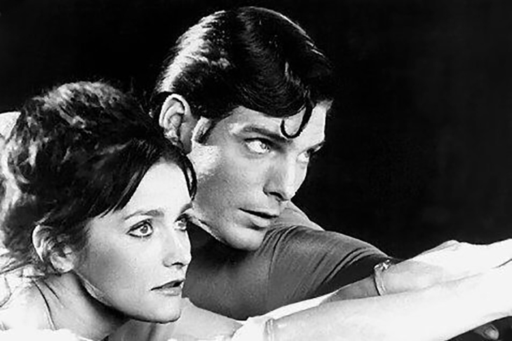 margot kidder 1983, christopher reeve, canadian actress, american actor, 1980s movies, superman 1983, lois lane, clark kent