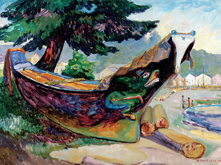 emily carr, canadian artist, canadian painter, canadian paintings, indian war canoe, 1912 canadian painting, old canadian oil painting