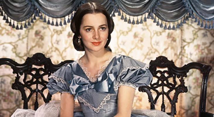 olivia de havilland 1939, english american actress, 1930s colour movies, gone with the wind,