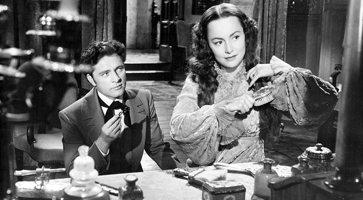 olivia de havilland 1952, richard burton, american actress, english actors, 1950s movies, my cousin rachel, daphne du maurier novel adaptation