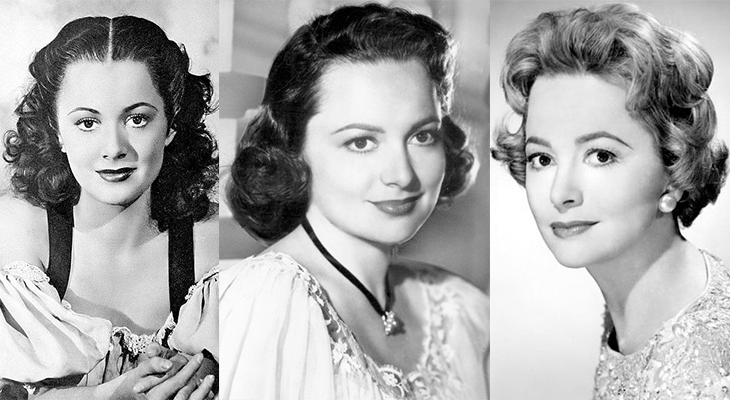 olivia de havilland 1936, english american actress, olivia de havilland 1948, olivia de havilland 1959, olivia de havilland younger to older