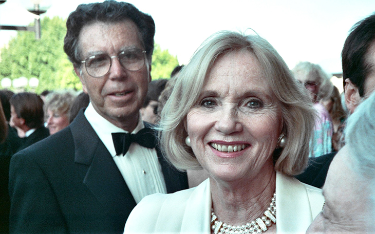eva marie saint 1990, jeffrey hayen, american actress, actors, senior citizen couple, sapphire wedding anniversary, married jeffrey hayden 1951, married eva marie saint 1951, older couple