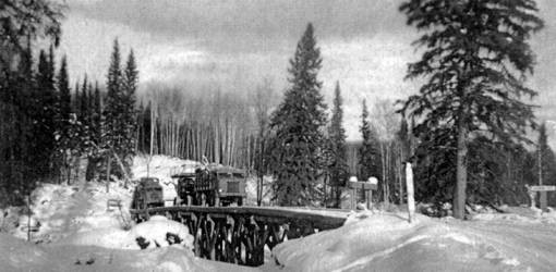 alaskan highway 1942, 1940s world war ii construction projects, alaskan highway 1940s construction, british columbian 1940s history