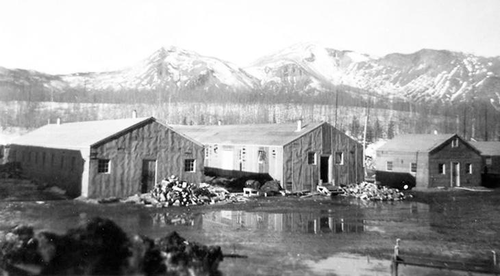 1942 alaska highway construction, 1940s alaska highway history, 1940s british columbia history, alaska highway construction crew housing