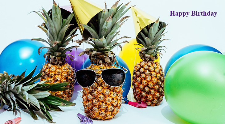 happy birthday wishes, birthday cards, birthday card pictures, famous birthdays, pineapple, balloons, sunglasses, drinks
