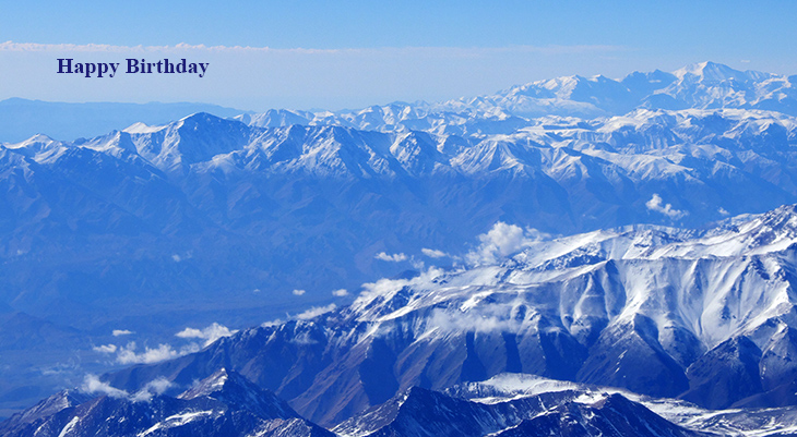 happy birthday wishes, birthday cards, birthday card pictures, famous birthdays, blue andes mountains, nature scenery, peru, bolivia