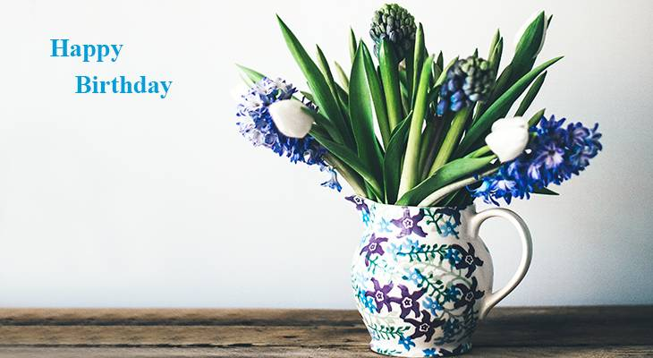 happy birthday wishes, birthday cards, birthday card pictures, famous birthdays, spring flowers, purple hyacinth, white tulip