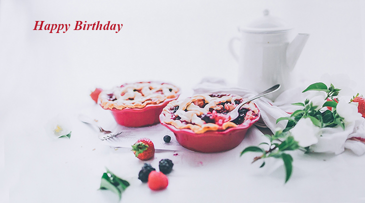 happy birthday wishes, birthday cards, birthday card pictures, famous birthdays, fruit pies, berry pie, cherry pie, food, treats
