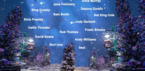 top christmas songs, best christmas carols, christmas movie song clips, christmas song videos, white christmas, bing crosby, rob thomas, andy williams, burl ives, david bowie, deanna durbin, judy garland, sam smith, jose feliciano, frank sinatra, seal, anne murray, elvis presley, celtic thunder, nat king cole, a new york christmas, its the most wonderful time of the year, have a holly jolly christmas, little drummer boy peace on earth, silent night, have yourself a merry little christmas, feliz navidad, santa claus is comin to town, winter wonderland, ill be home for christmas, the christmas song, chestnuts roasting on an open fire, silent night christmas 1915