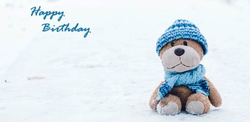 happy birthday wishes, birthday cards, birthday card pictures, famous birthdays, teddy bear, snowman bear, stuffed animals, winter