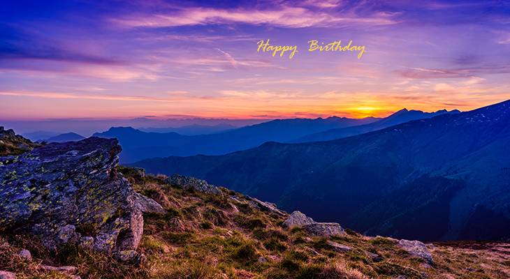 happy birthday wishes, birthday cards, birthday card pictures, famous birthdays, sunset, monte bregnano, italy, nature scenery, sunrise