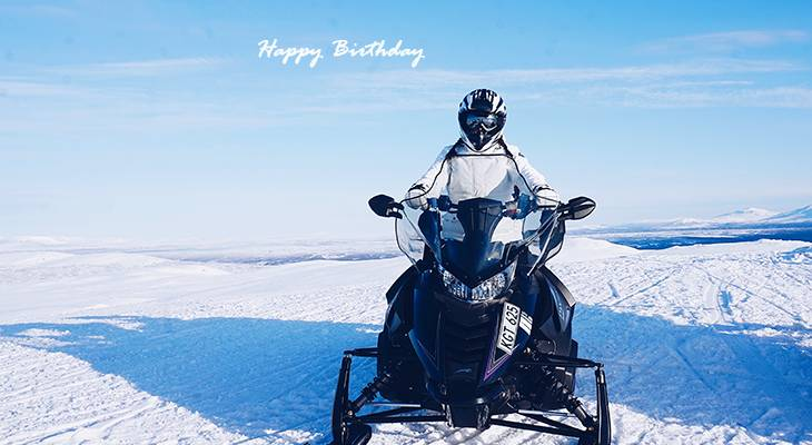 happy birthday wishes, birthday cards, birthday card pictures, famous birthdays, snowmobiler, snowmobiling, winter scenery,