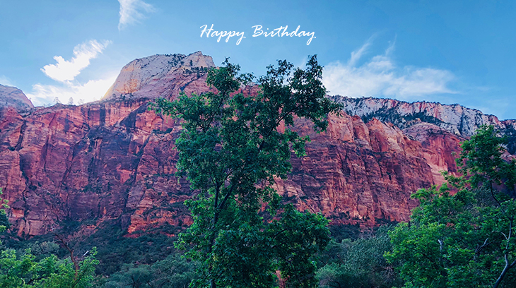 happy birthday wishes, birthday cards, birthday card pictures, famous birthdays, colorful mountain, emerald pools trail, hurricane utah, nature scenery