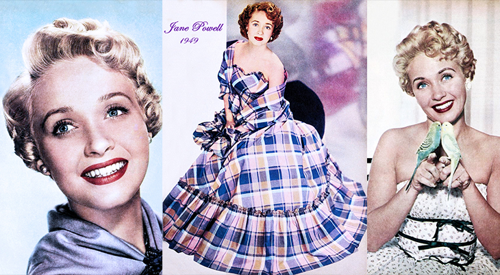 jane powell, american actress, singer, classic movies, movie musicals, seven brides for seven brothers, 1949, 1953, 1954,