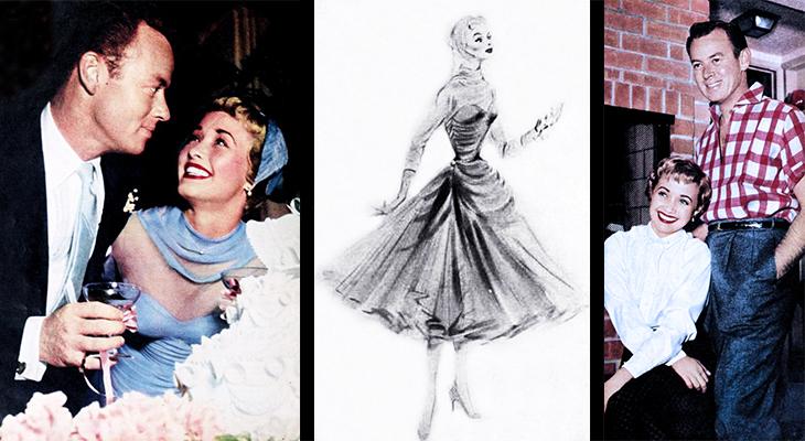 jane powell, american actress, movie star, movie musicals, classic films, 1954 wedding, patrick nerney, mgm designer helen rose, wedding dress design