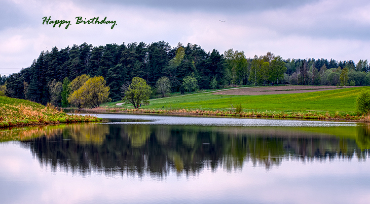 happy birthday wishes, birthday cards, birthday card pictures, famous birthdays, finland, nature scenery, lake, reflection