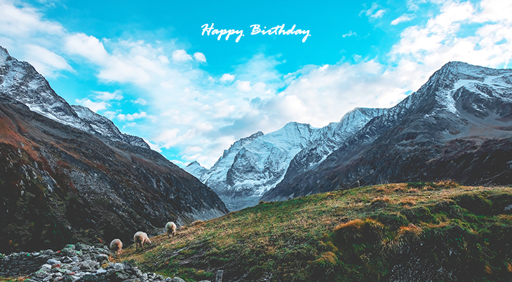 happy birthday wishes, birthday cards, birthday card pictures, famous birthdays, sheep, animals, switzerland, mountains, nature scenery